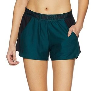 Under Armour Play Up 2.0 Green Athletic Shorts